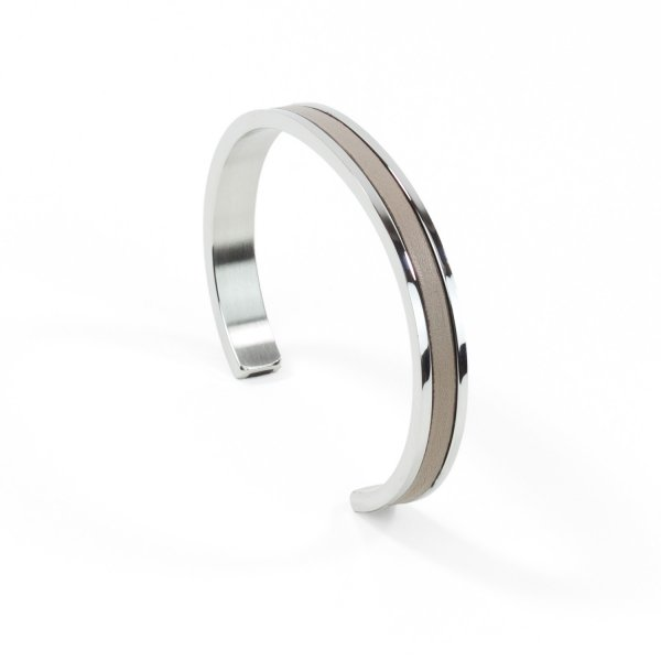 Atelier Clause Bracelet STEEL BANGLE Tourterelle