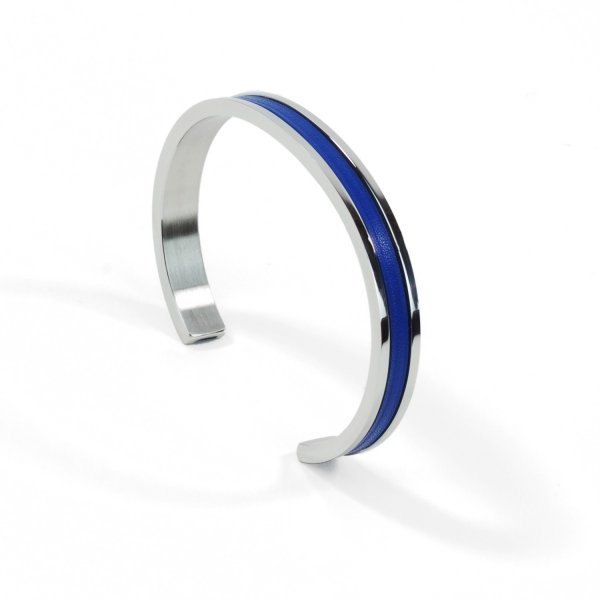 Atelier Clause Bracelet STEEL BANGLE Saphir