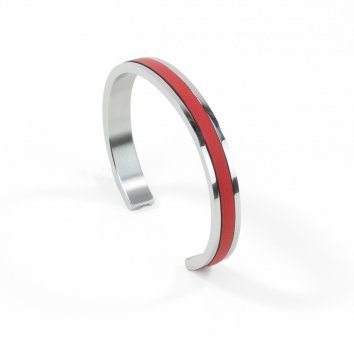 Atelier Clause Bracelet STEEL BANGLE Rosso Corsa