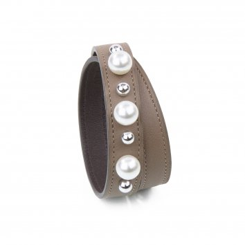 Bracelet JET-PEARL Swift Warm Taupe