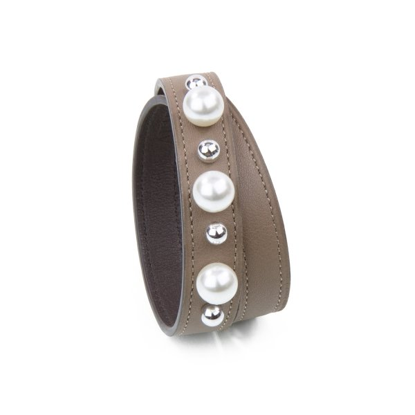 Bracelet JET-PEARL Swift Warm Taupe Atelier Clause