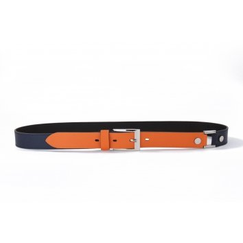 Ceinture COLOR-BLOCK Mandarine - Atelier Clause