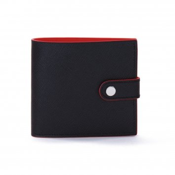 Portefeuille COLOR-BLOCK Black/Red