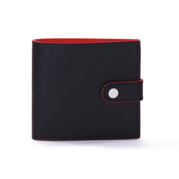 Portefeuille COLOR-BLOCK Black/Red - Atelier Clause