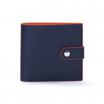 Portefeuille COLOR-BLOCK Night Blue/Mandarine