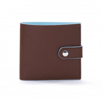 Portefeuille COLOR-BLOCK Brown/Glacier Atelier Clause