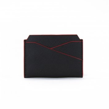 Porte Cartes COLOR-BLOCK Black/Red Atelier Clause
