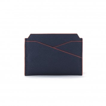 Porte Cartes COLOR-BLOCK Night Blue/Mandarine
