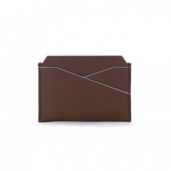 Porte Cartes COLOR-BLOCK Brown/Glacier