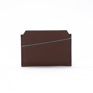 Porte Cartes COLOR-BLOCK Brown/Glacier Atelier Clause