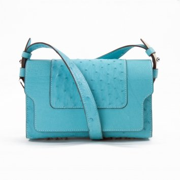 Sac LITTLE NICKI Autruche Azur