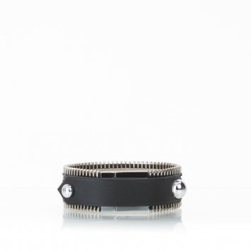 Bracelet ZIGGY Python Deep Black - Atelier Clause