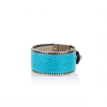 Manchette JANIS Lizard Turquoise - Atelier Clause