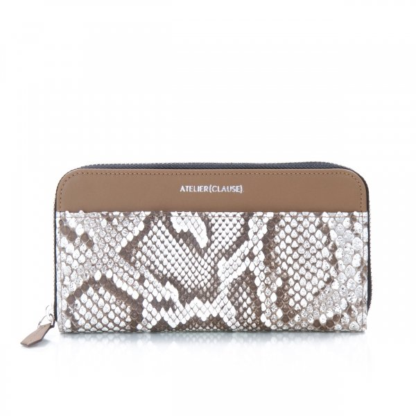 Compagnon Zippé python white optic Atelier Clause
