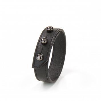 Bracelet JET-TREE Veau Deep Black Atelier Clause