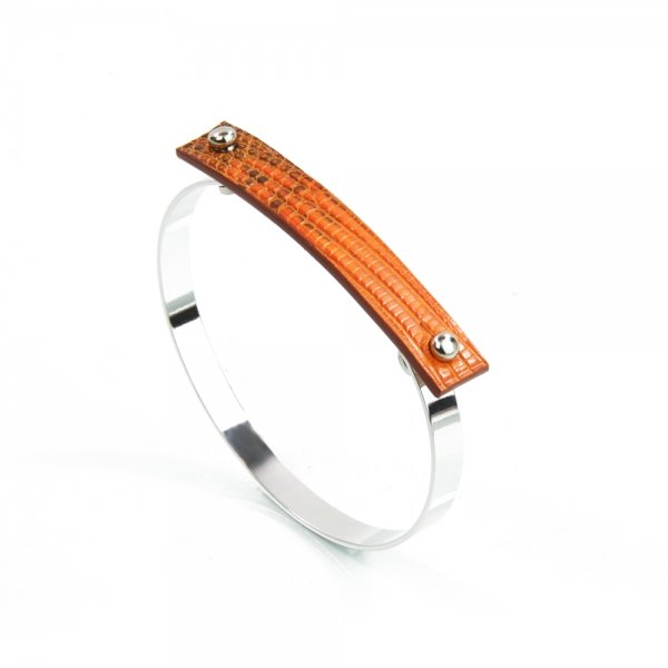 Bangle AMBER Lizard Cachou Atelier Clause