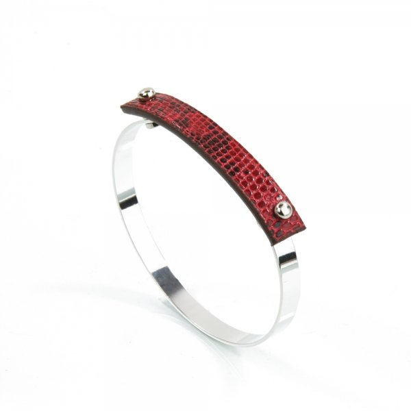 Bangle AMBER Lizard Tomate Atelier Clause