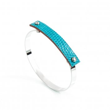 Bangle AMBER Lizard Turquoise Atelier Clause