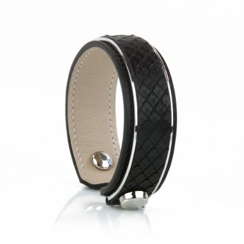 Bangle INITIAL Python Deep Black Atelier Clause
