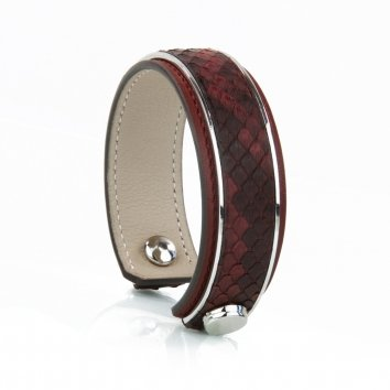 Bangle INITIAL Python Bordeaux